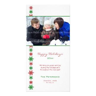Schneeflocke-Feiertags-Foto-Karten Photokartenvorlage