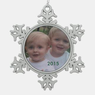Schneeflocke-Feiertags-Foto-Verzierung Schneeflocken Zinn-Ornament
