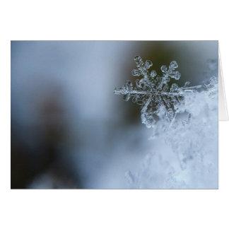 Schneeflocke-Feiertags-Karte Karte