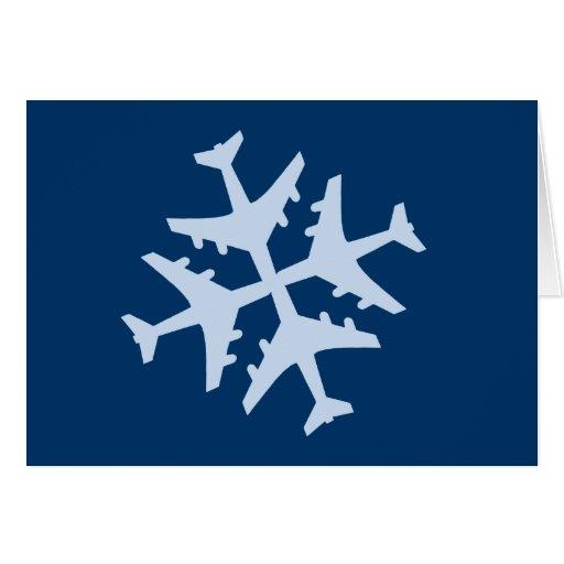 Schneeflocke-Flugzeug Karten