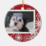 Schneeflocke-Foto-Rahmen für Weihnachten Weihnachtsornament