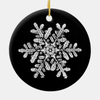 Schneeflocke-Foto-Verzierung Rundes Keramik Ornament