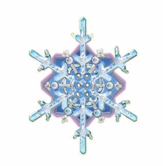 Schneeflocke Fotoskulptur Ornament