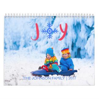 Schneeflocke-Freude   2017 Gewohnheits-Kalender Wandkalender