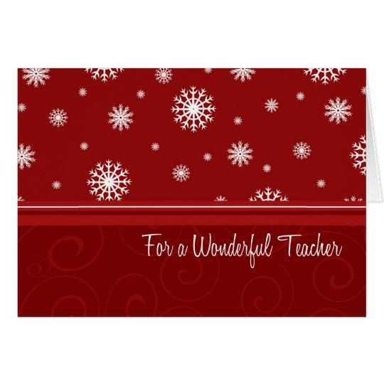 schneeflocke frohe weihnachten f r lehrer karte karte zazzle. Black Bedroom Furniture Sets. Home Design Ideas