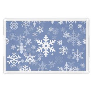 Schneeflocke-Grafik fertigen Farbhintergrund auf a Acryl Tablett