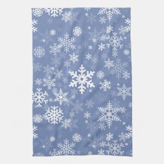 Schneeflocke-Grafik fertigen Farbhintergrund auf a Handtuch