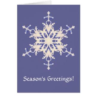 Schneeflocke Grußkarte