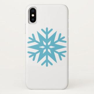 Schneeflocke iPhone X Hülle