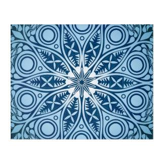 Schneeflocke-Kaleidoskopmuster Acryl Wandkunst