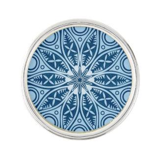 Schneeflocke-Kaleidoskopmuster Anstecknadel