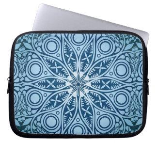Schneeflocke-Kaleidoskopmuster Laptop Sleeve