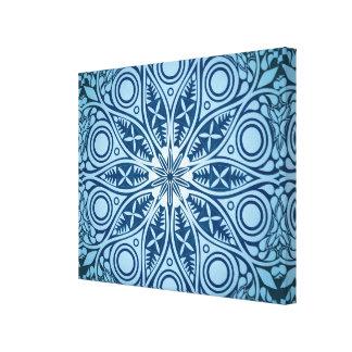 Schneeflocke-Kaleidoskopmuster Leinwanddruck