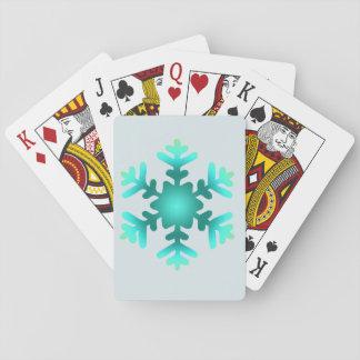 Schneeflocke-klassische Spielkarten