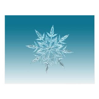 Schneeflocke-Kristall Postkarte