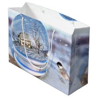 Schneeflocke-Kugel-Geschenk-Tasche Große Geschenktüte