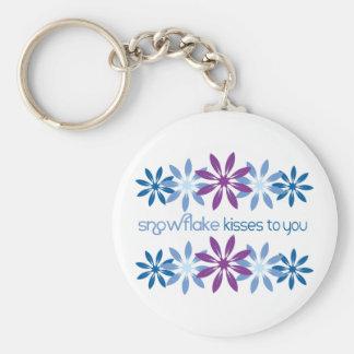 Schneeflocke-Küsse zu Ihnen Schlüsselanhänger