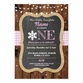 Schneeflocke-laden erstes Geburtstags-Party ein 12,7 X 17,8 Cm Einladungskarte