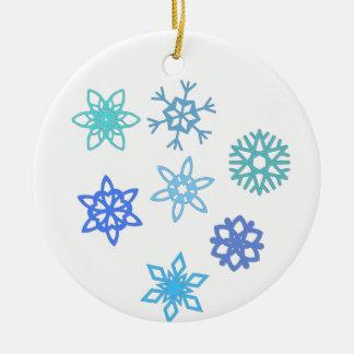 Schneeflocke-Muster-Feiertags-Verzierung Keramik Ornament