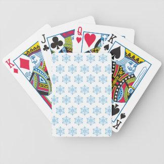 Schneeflocke-Muster-Hintergrund Bicycle Spielkarten