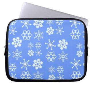 Schneeflocke-Muster Laptopschutzhülle