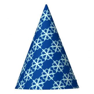 Schneeflocke-Party-Hutblau Partyhütchen
