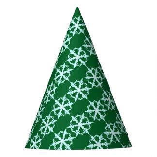 Schneeflocke-Party-Hutgrün Partyhütchen