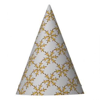Schneeflocke-Partyhut Partyhütchen