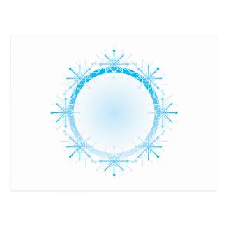 Schneeflocke-Rahmen Postkarte