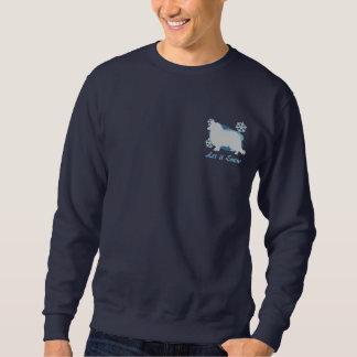 Schneeflocke-rauer Collie gesticktes Sweatshirt