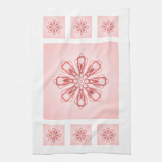 Schneeflocke-rosa Geschirrtuch durch Janz