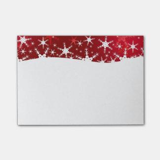 Schneeflocke-rote frohe Weihnachten - Posten-it® Post-it Klebezettel
