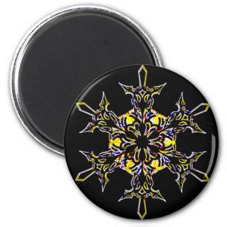 Schneeflocke Runder Magnet 5,1 Cm