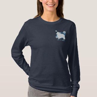 Schneeflocke-Sheltie gesticktes Shirt