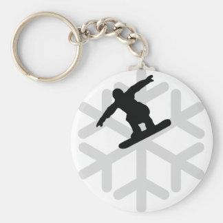 Schneeflocke-Snowboarderikone Schlüsselanhänger