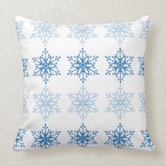 Schneeflocke-Streifen Kissen