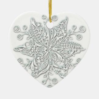 Schneeflocke-Strudel Keramik Ornament