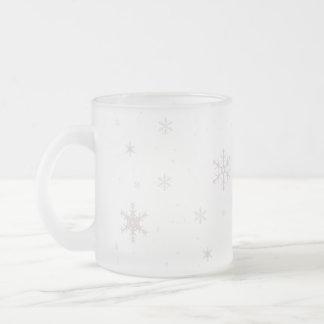 Schneeflocke-Tasse Mattglastasse