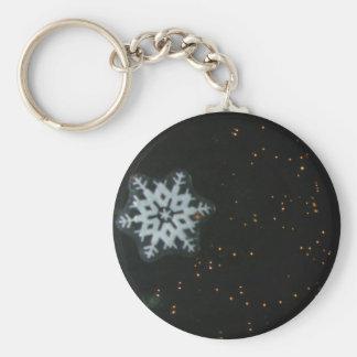 Schneeflocke u. Lichter keychain Schlüsselanhänger