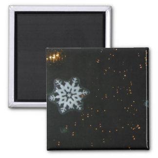 Schneeflocke- u. Lichtmagnet Quadratischer Magnet