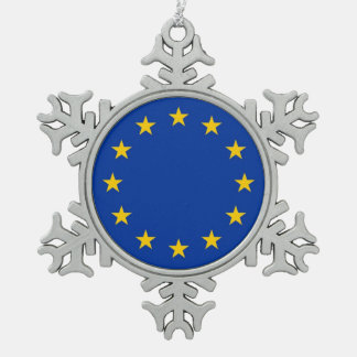 Schneeflocke-Verzierung mit europäischer Schneeflocken Zinn-Ornament
