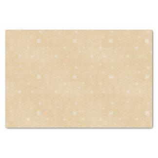 Schneeflocke-Vintage Art Seidenpapier