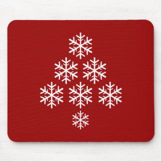 Schneeflocke-Weihnachtsbaum ~ Feiertag Mousepads