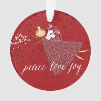 Schneeflocke-Weihnachtsmagische feenhafte Ornament