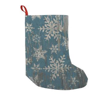 Schneeflocke Weihnachtsrustikaler Kleiner Weihnachtsstrumpf