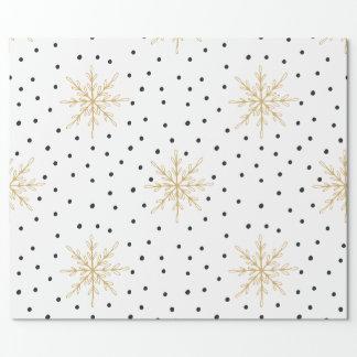 Schneeflocke-Weiß u. GoldPackpapier Einpackpapier