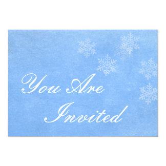 Schneeflocke-Winter-Einladung
