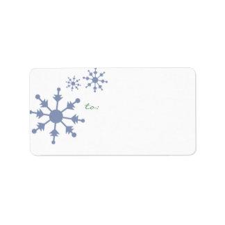 Schneeflockefeiertags-Adressen-Etiketten Adressetikett