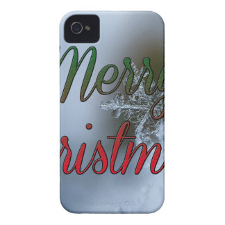 Schneeflockegruß der frohen Weihnachten iPhone 4 Hüllen