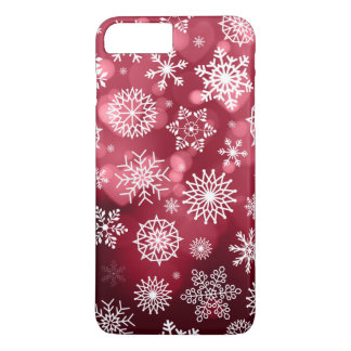 Schneeflocken auf einem Telefon-Kasten des iPhone 8 Plus/7 Plus Hülle